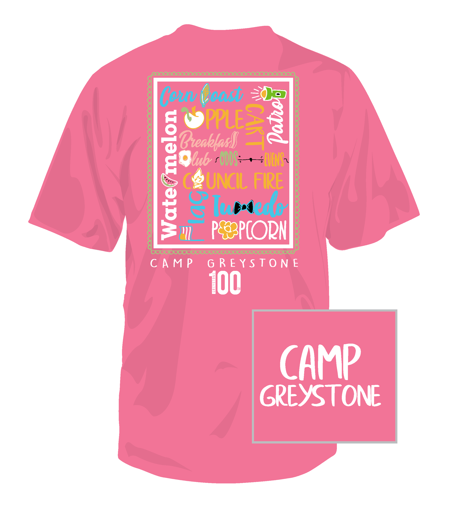 Picture of Word Shirt, Hot Pink, 100th - 2019