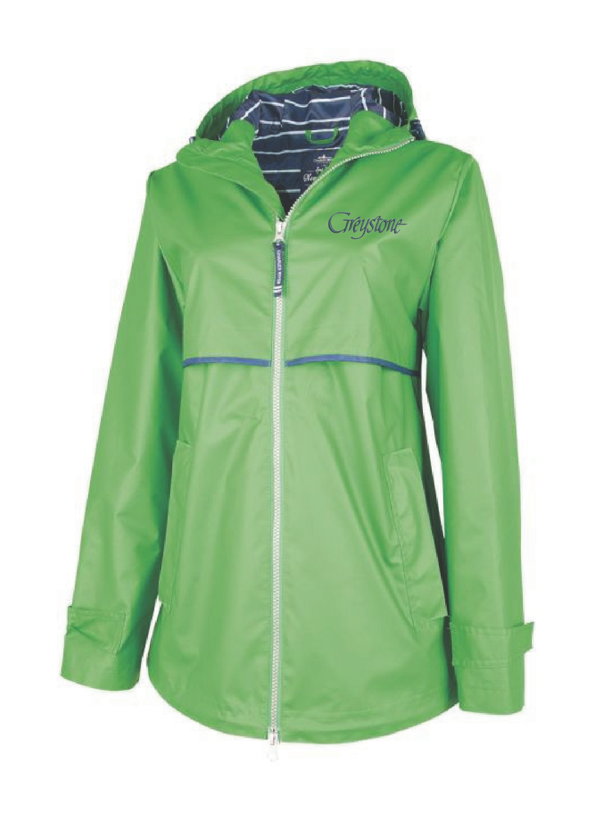 Picture of New Englander Kelly Green Rain Jacket - Adult