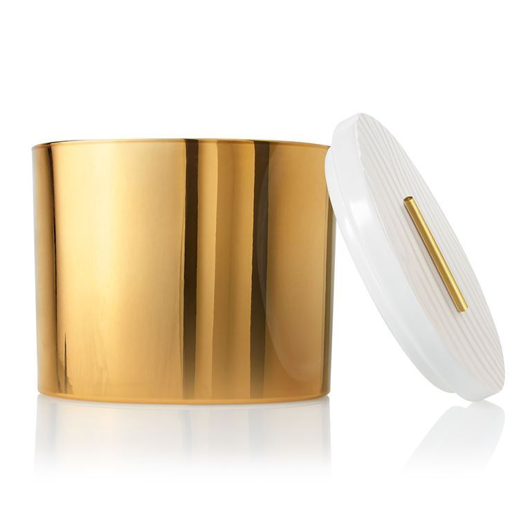 Picture of Thymes Frasier Fir Gilded Gold 3-wick Poured Candle