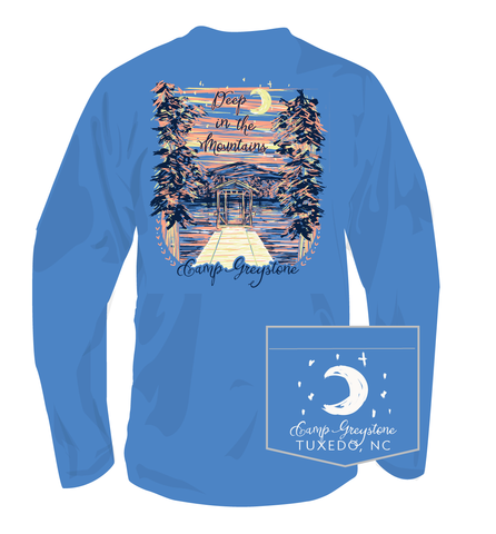 Picture of Deep in the Mtns, Long Sleeve Shirt, Flo Blue, Adult - 2019 100th