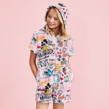 Picture of Youth VSCO Girl Plush Romper