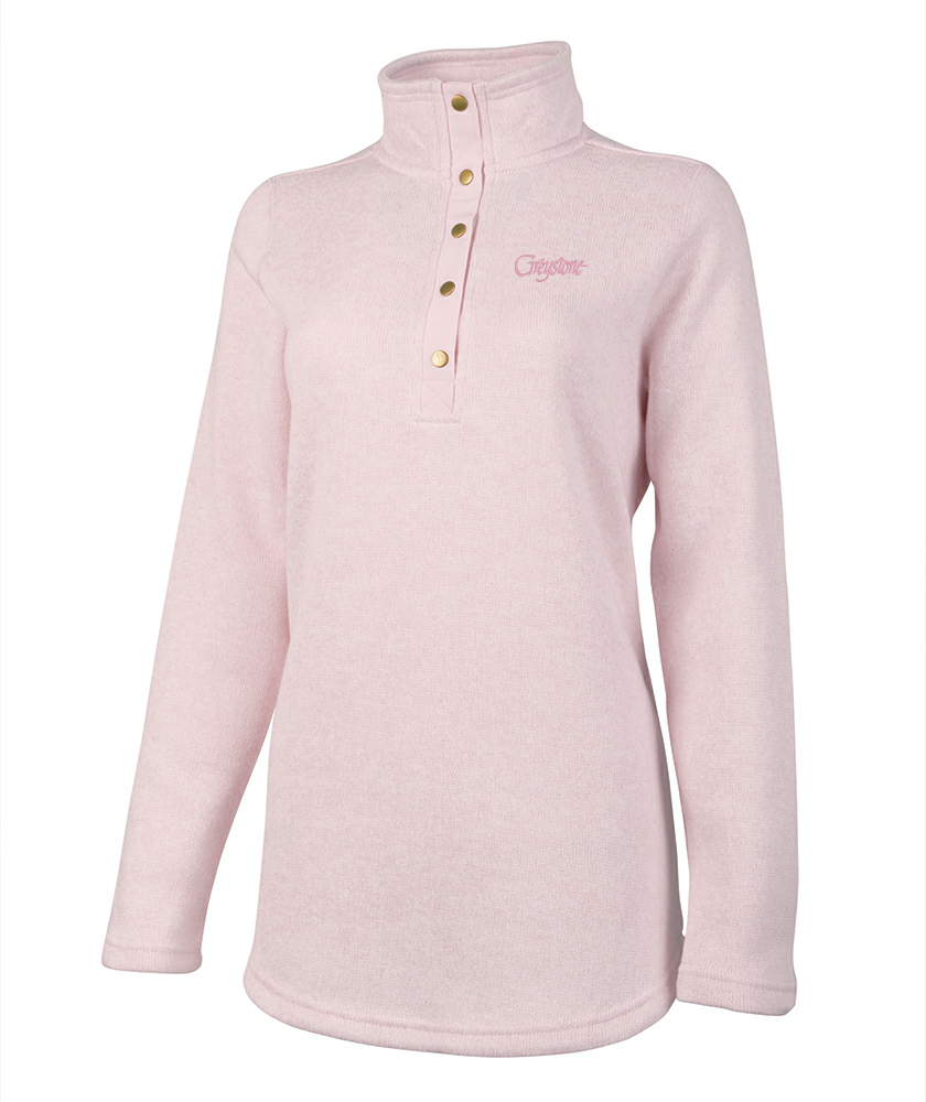 Picture of Hingham Sweater-Fleece Tunic, Pale Pink, Adult