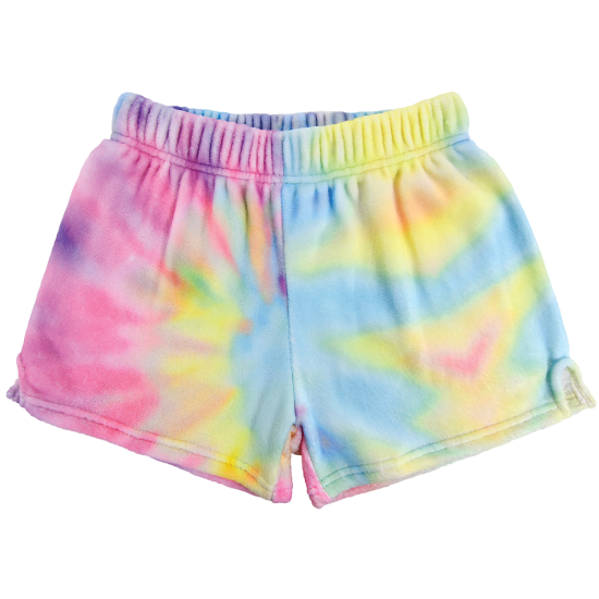 Picture of Youth Pastel Tie Dye Plush Shorts