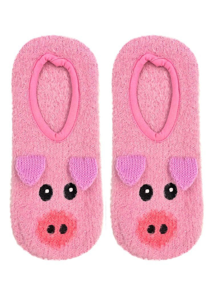 Picture of Fuzzy Pig Slippers