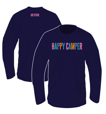 Picture of Happy Camper Shirt, Long Sleeve, Navy