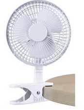 Picture of White Clip Fan with Base