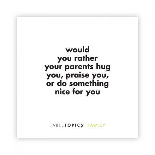 Picture of Table Topics:  Family