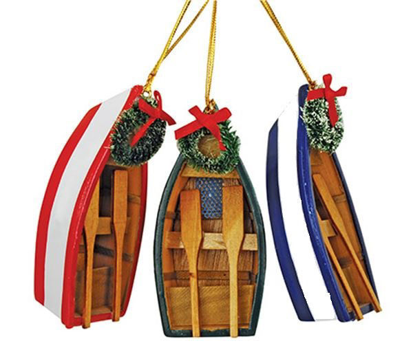 Picture of 'Libby' Dory Boat Ornaments - 3 colors
