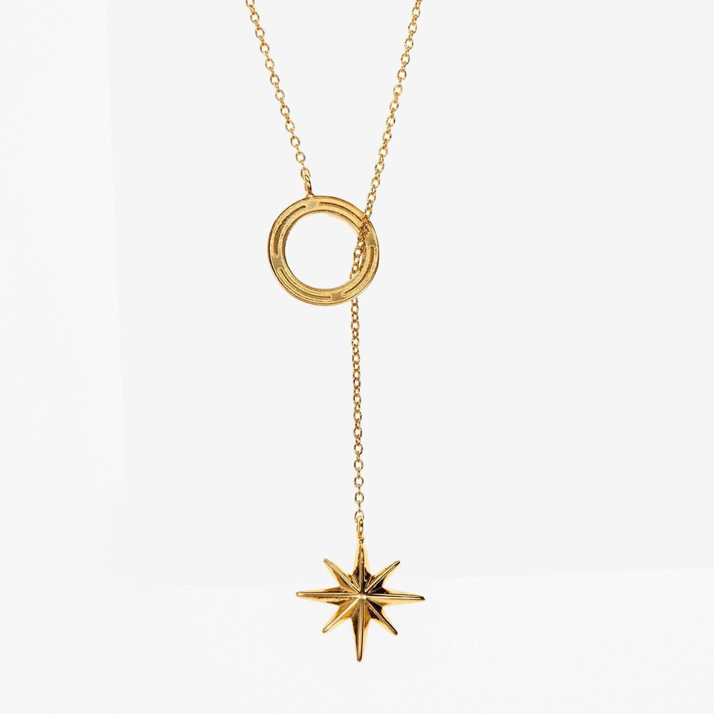 Picture of Kyle Cavan Compass Lariat Necklace - Cavan Gold™