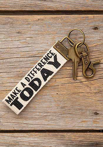 Picture of Make a Difference Today Canvas Key Fob/Backpack Charm