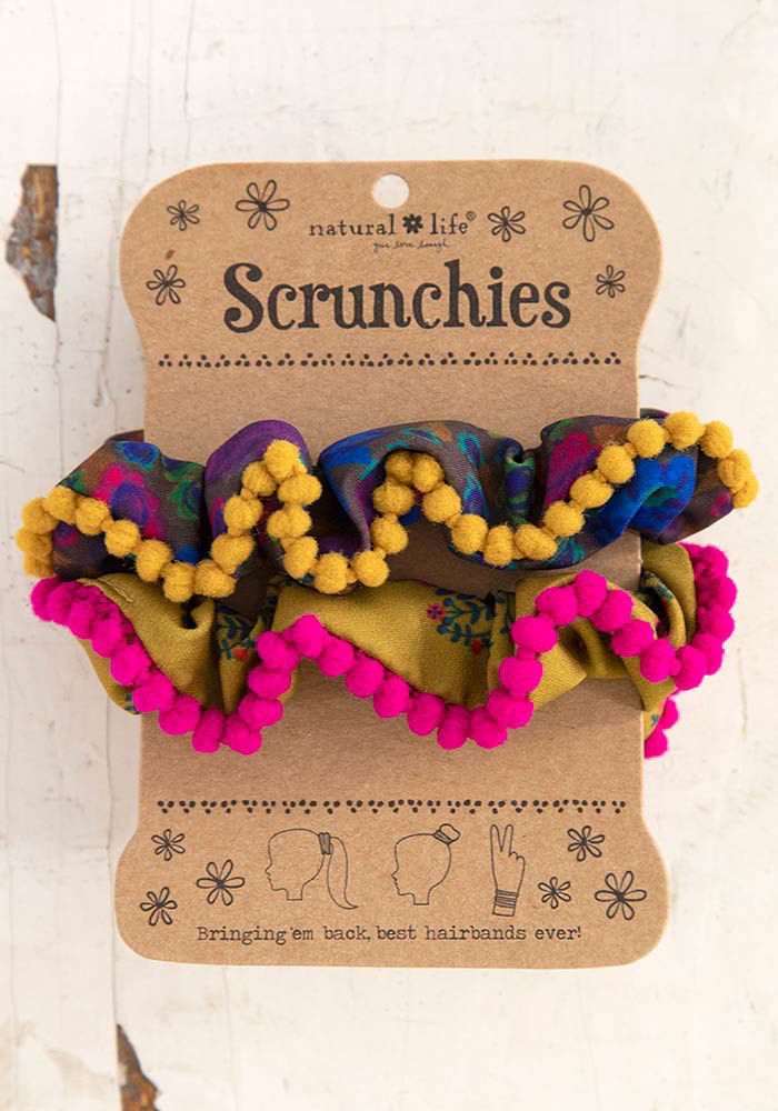 Picture of Pom Pom Scrunchies - 3 choices