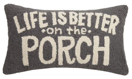 Picture of Life is Better on the Porch Pillow