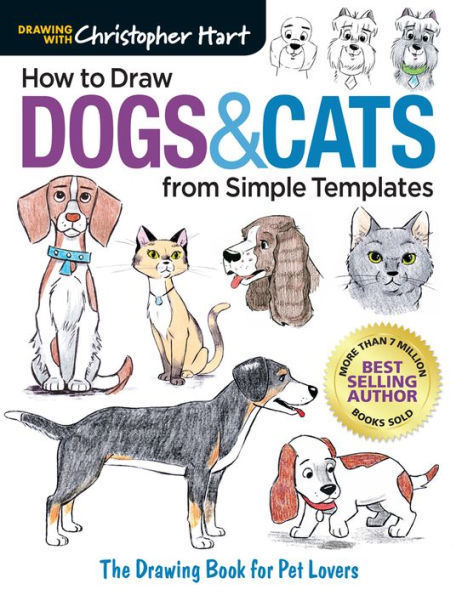 Picture of How to Draw Dogs & Cats from a simple Template