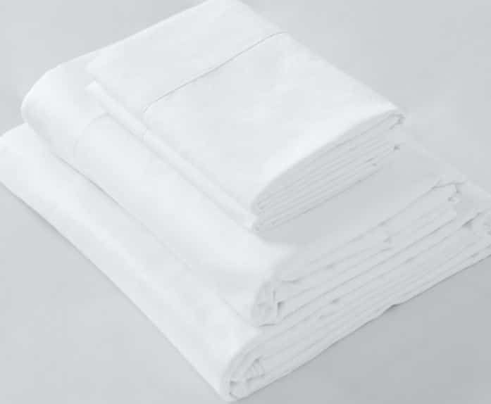 Picture of Twin Flat Sheets, White, 300 Thread Count