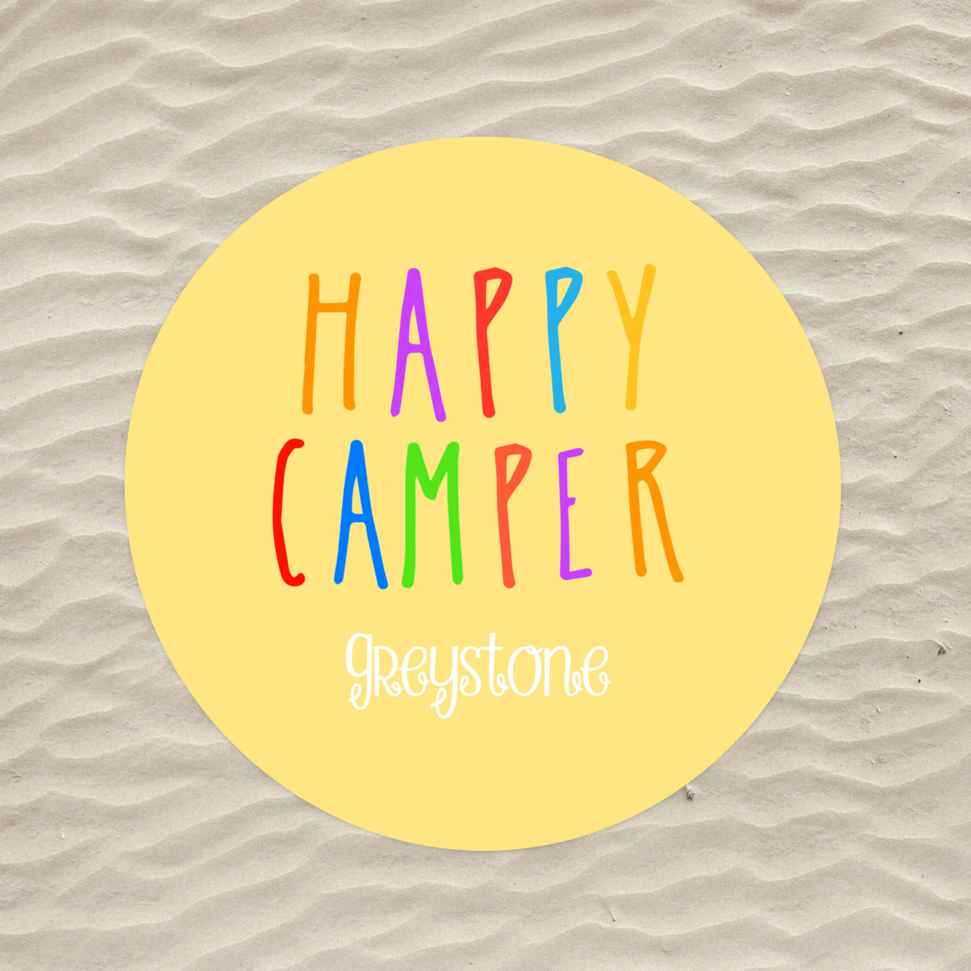 Picture of Happy Camper Circle Beach Towel