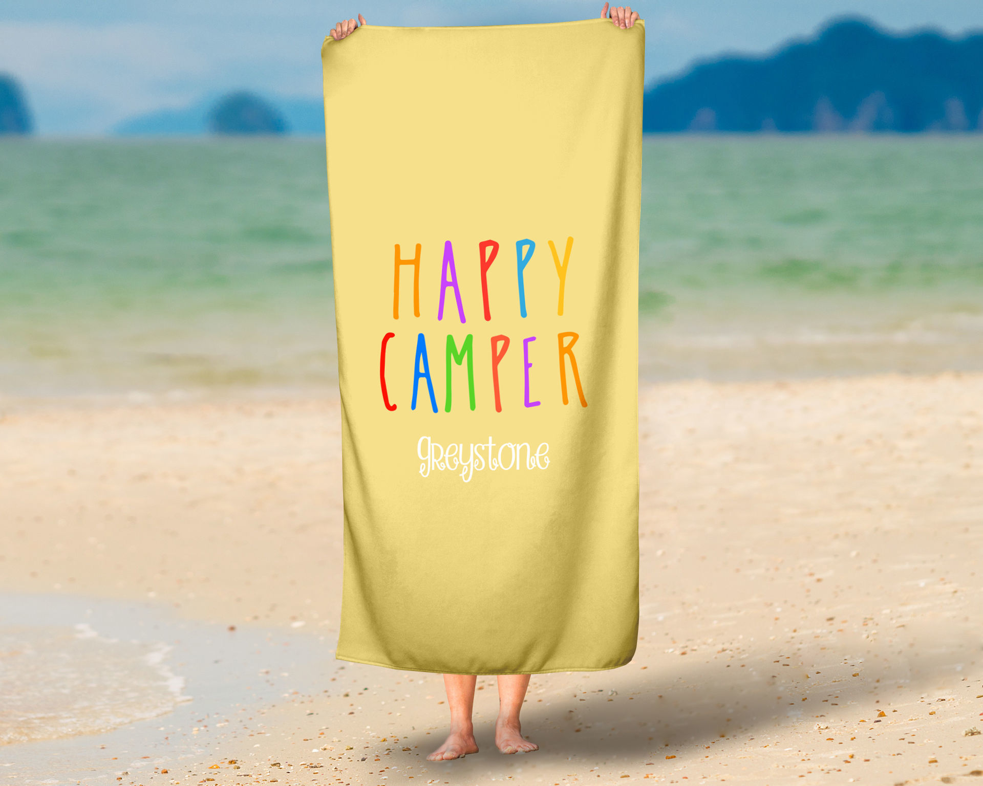 Picture of Happy Camper Oversized Beach Towel