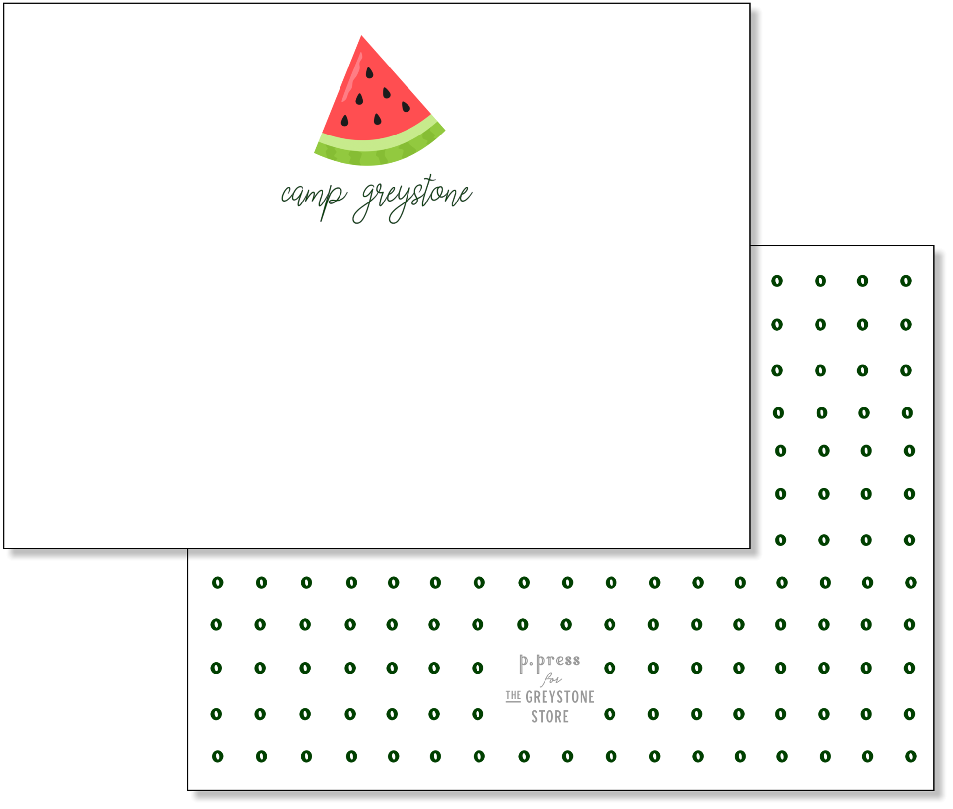 Picture of Watermelon Flat Note Card Set