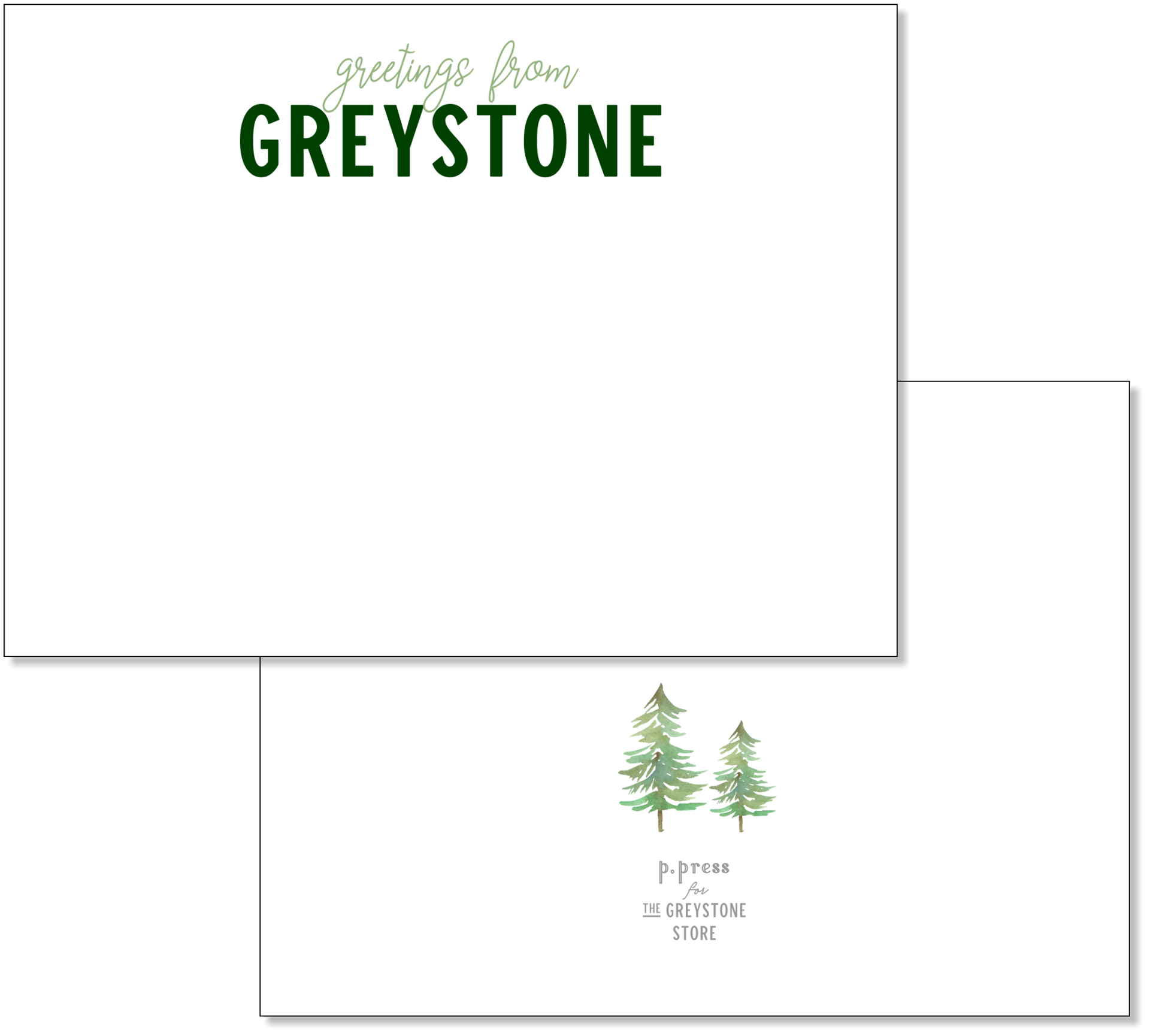 Picture of Greeting From Greystone Flat Note Card Set