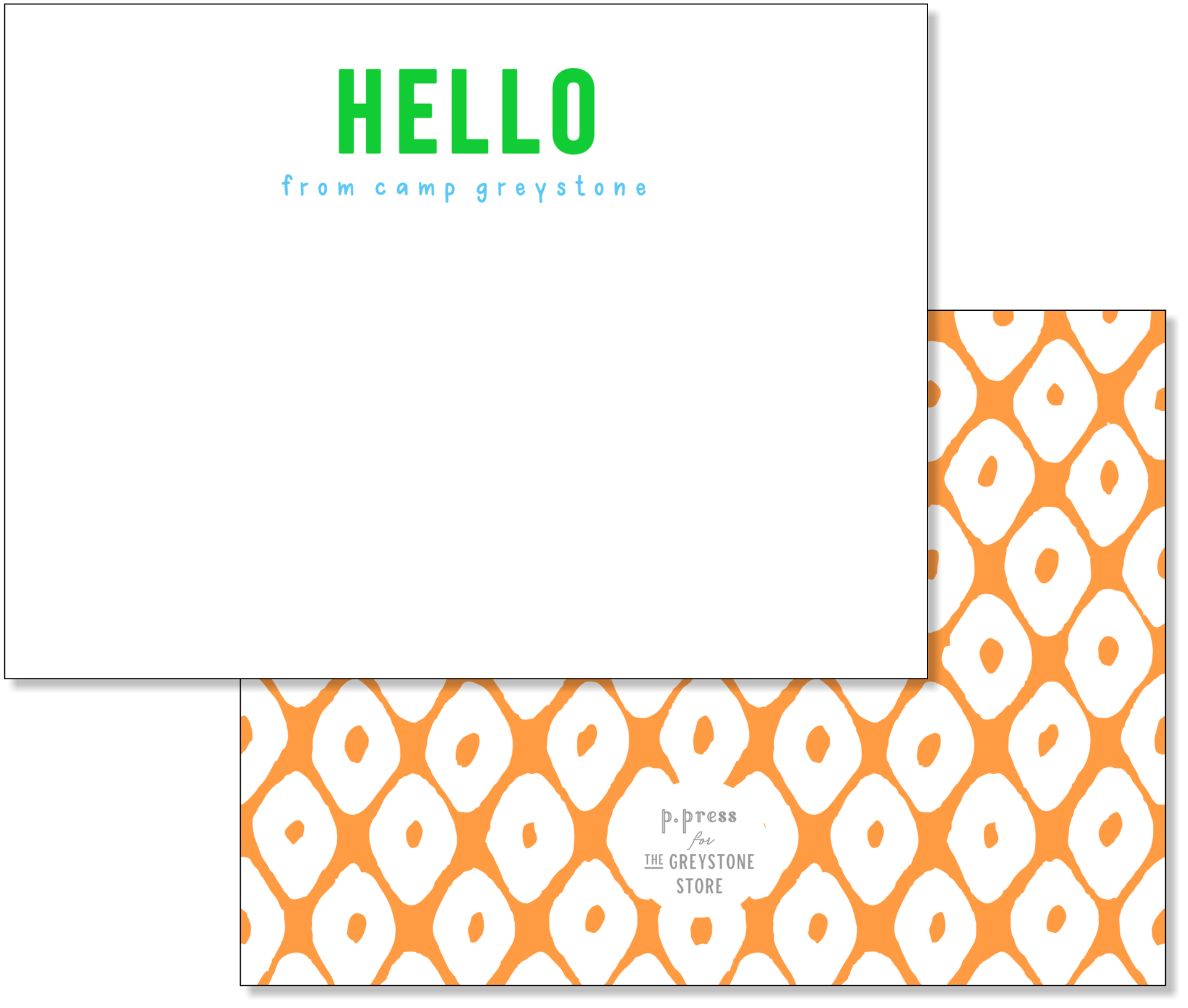 Picture of Hello From Camp Greystone Flat Note Card Set