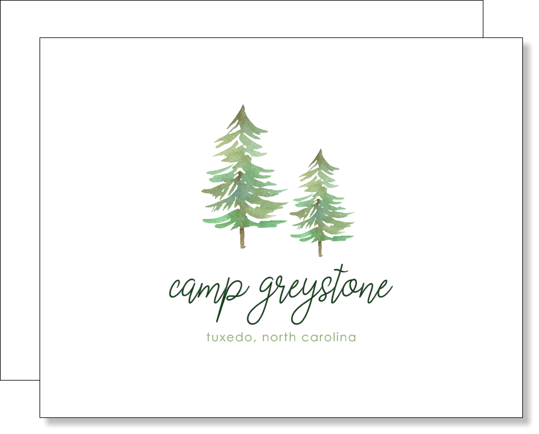 Picture of Greystone Trees Folded Note Card Set