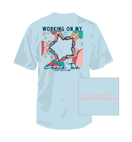 Picture of Chaco Tan Shirt, Chambray, Short Sleeve