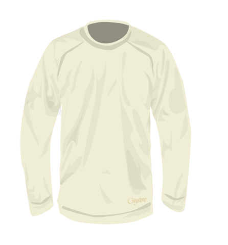 Picture of Pique Crew Lightweight Sweatshirt, Ivory, Adult