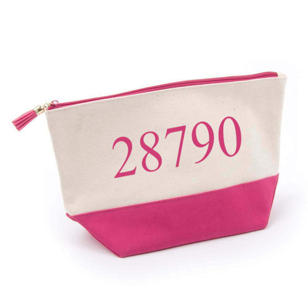 """Picture of Canvas Cosmetic Bag, 12""""W x 7""""H - 4 colors"""