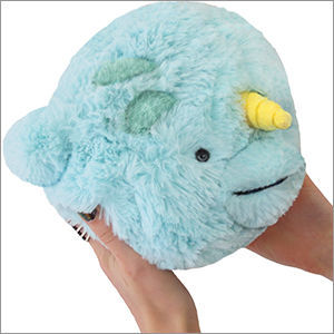 """Picture of Mini Narwhal Plush Pillow, 7"""""""