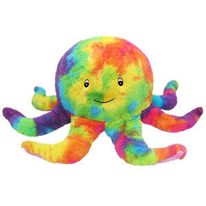 """Picture of Tie-Dye Octopus Plush Pillow, 17"""""""