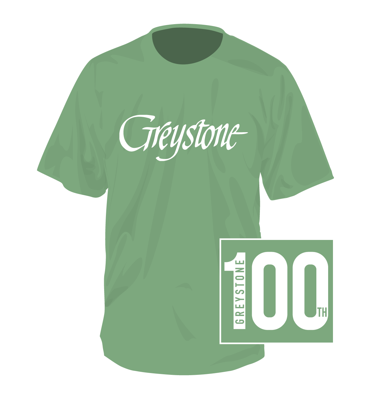 Picture of Signature Light Green Shirt, 100th - 2019, Youth Large