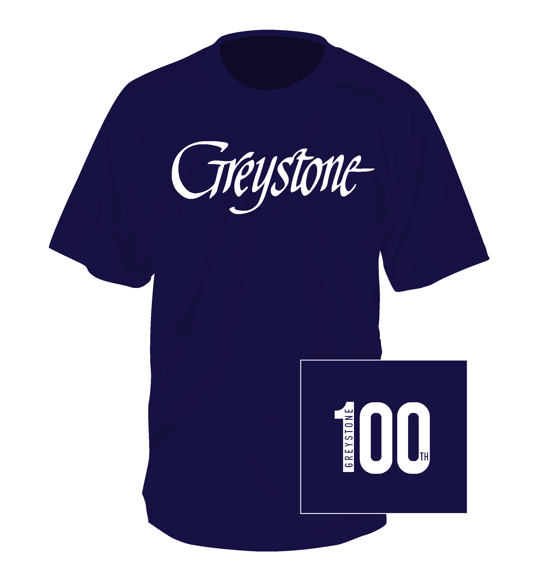 Picture of Signature Navy Short Sleeve Tee 100th  2019 Youth Med. & Large