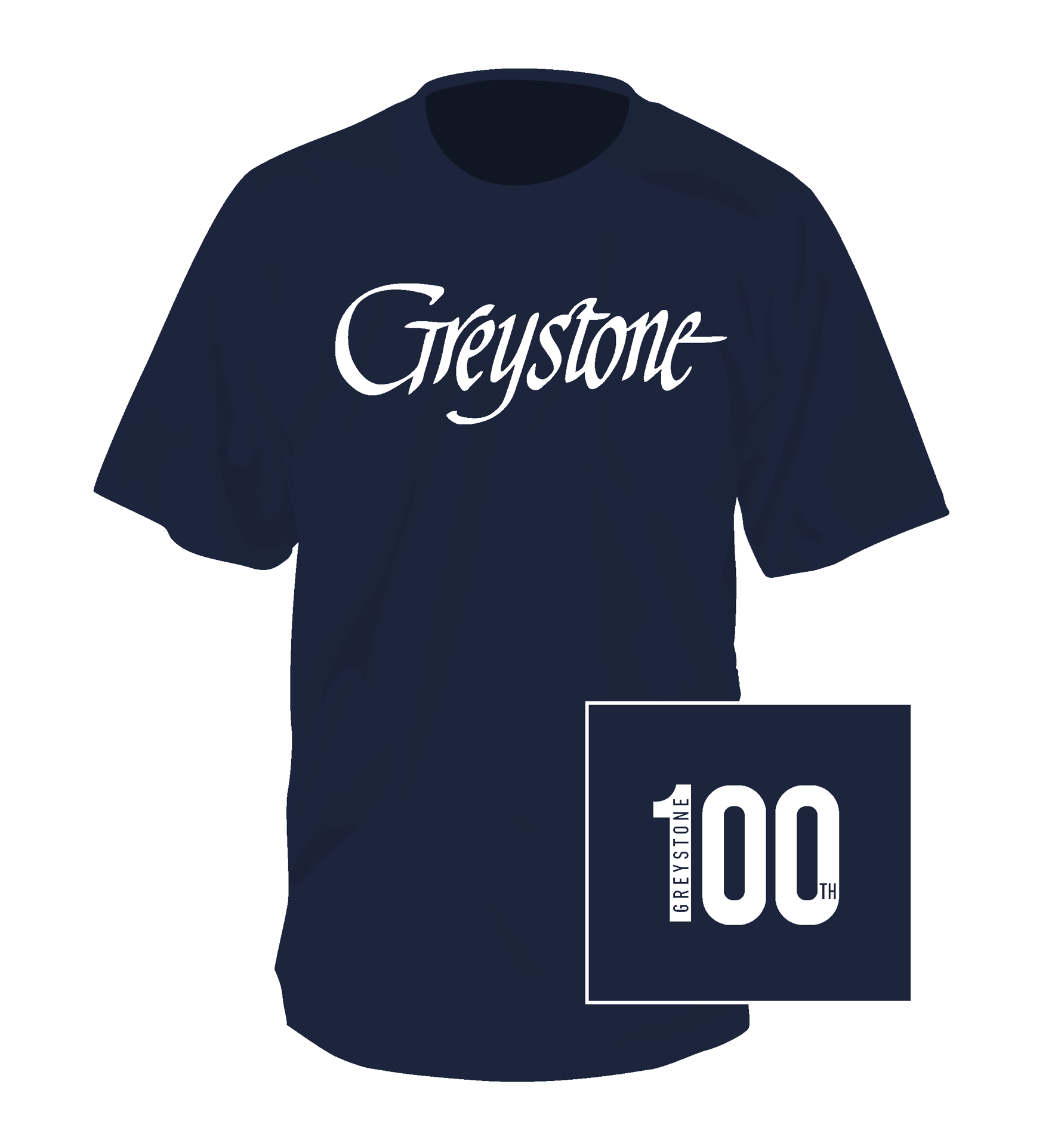 Picture of Signature Navy Short Sleeve Shirt - 100th