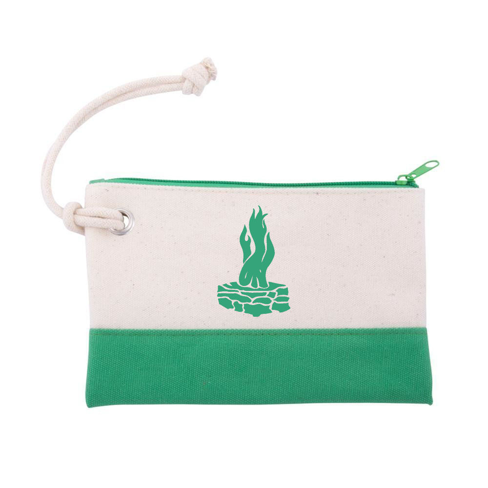"Picture of Canvas Rope Wristlet Pouch, with Council Fire Logo 8"" x 5"""