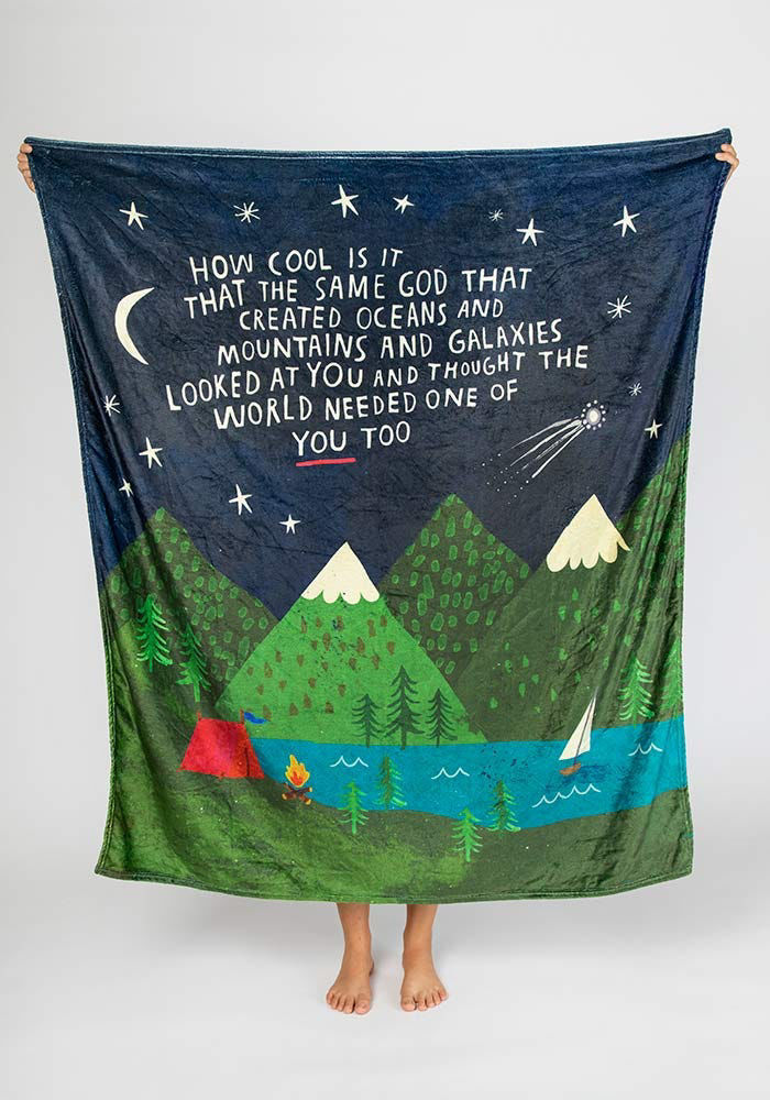 Picture of God Created You Tapestry Blanket