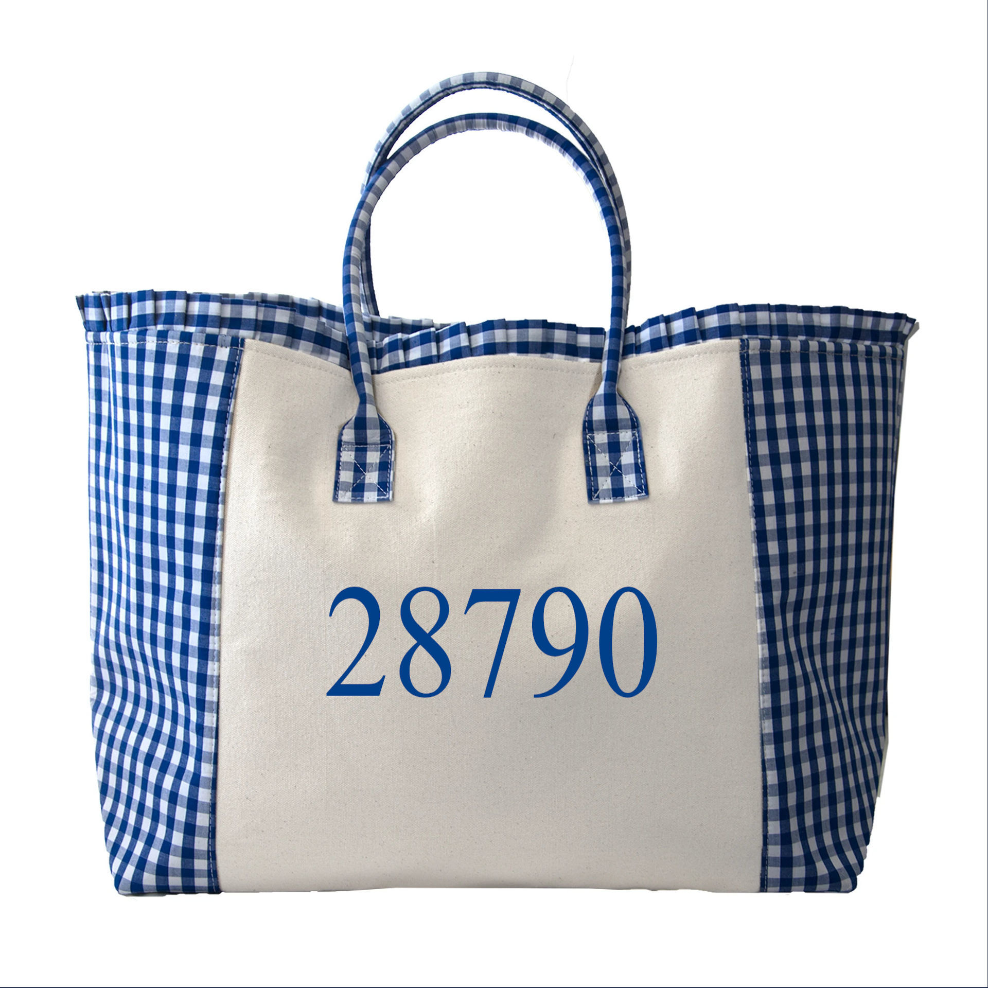 Picture of Blue Gingham Weekender