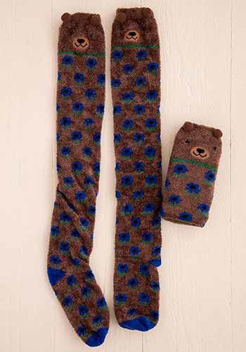 Picture of Over-the-Knee Cozy Socks - Bear