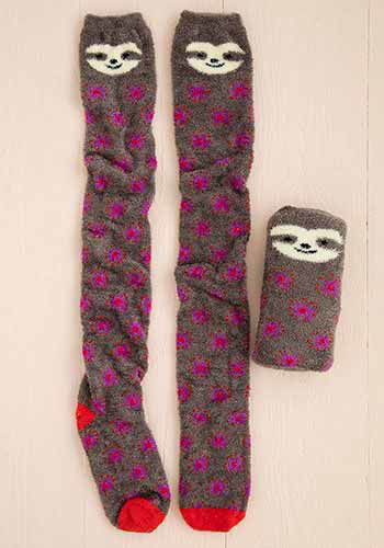 Picture of Over-the-Knee Cozy Socks - Sloth