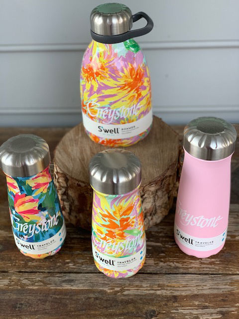 Picture of S'Well Pink Topez 20 oz Traveler Water Bottle *Optional Monogram*