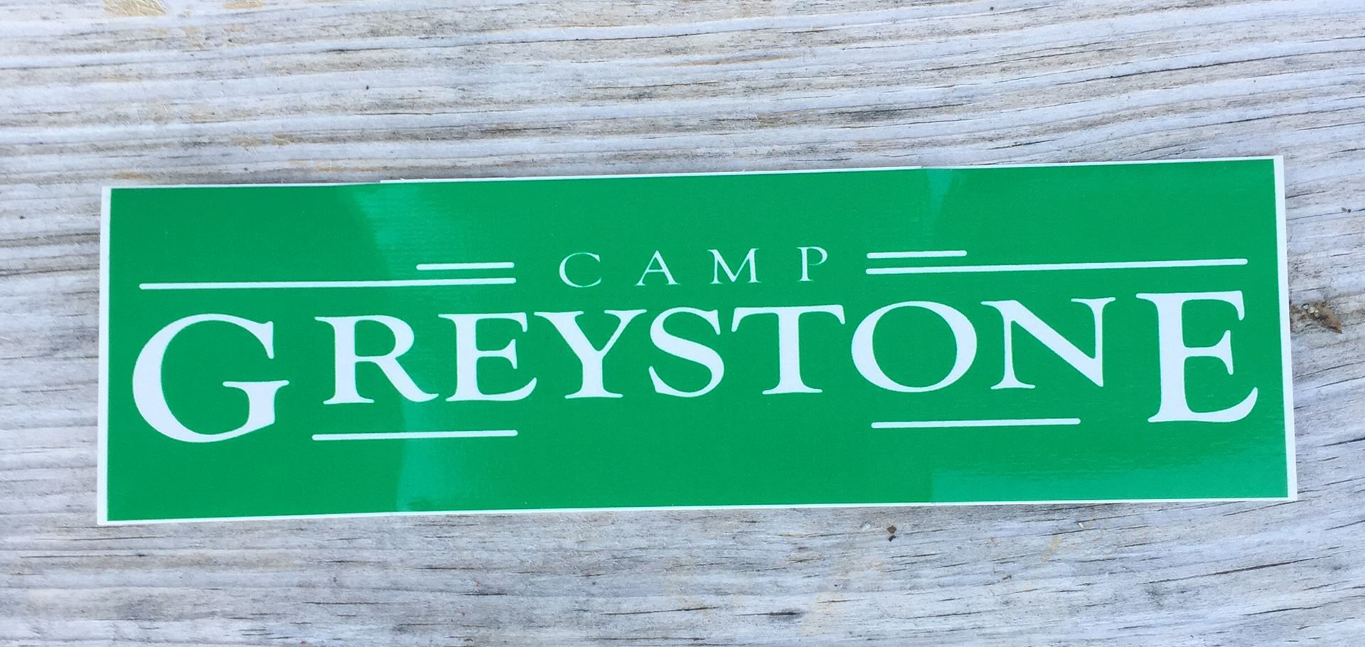 Picture of Green Rectangle Camp Greystone Sticker