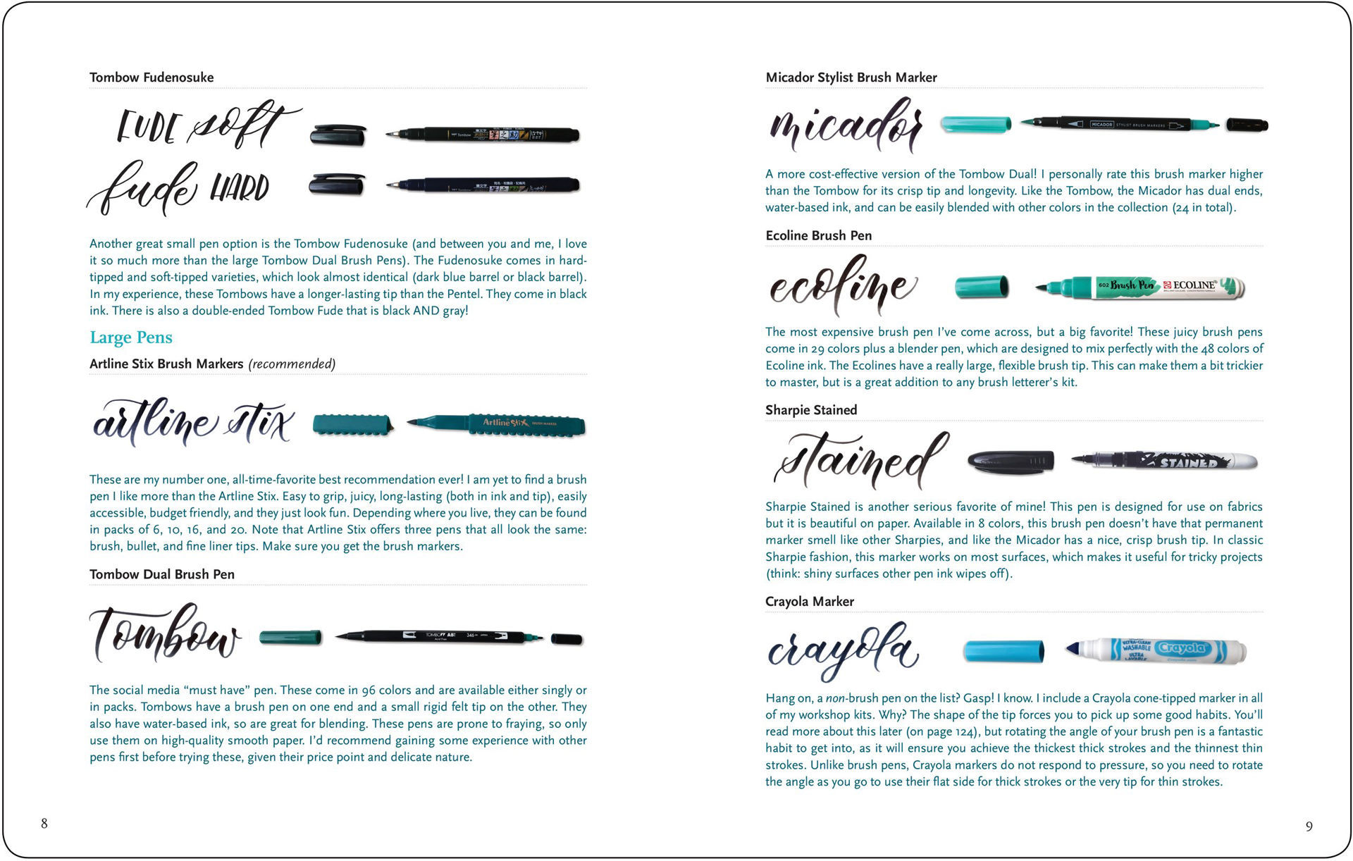 Picture of Brush Lettering from A - Z