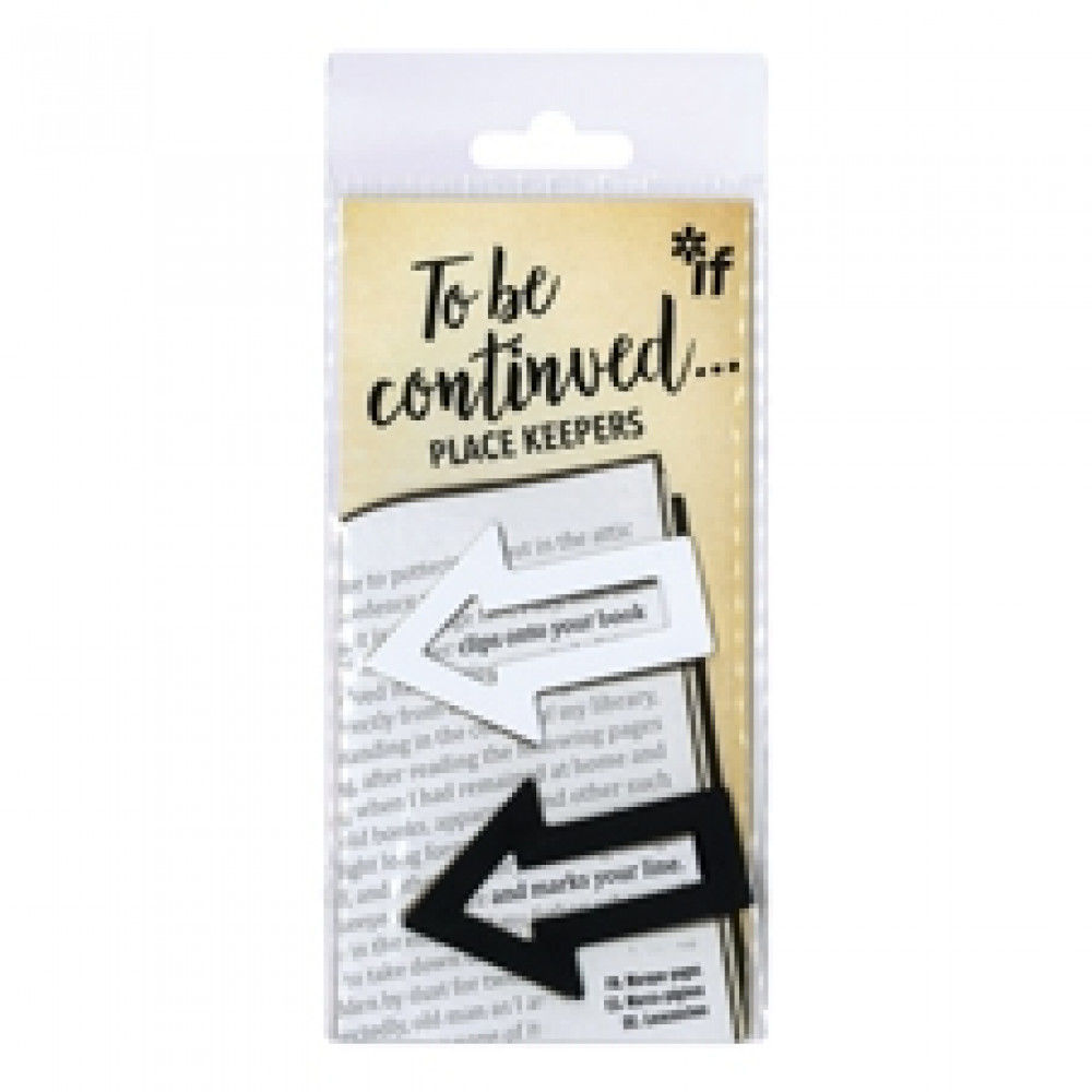 Picture of To Be Continued... Bookmarks/Place Keepers - Black & White