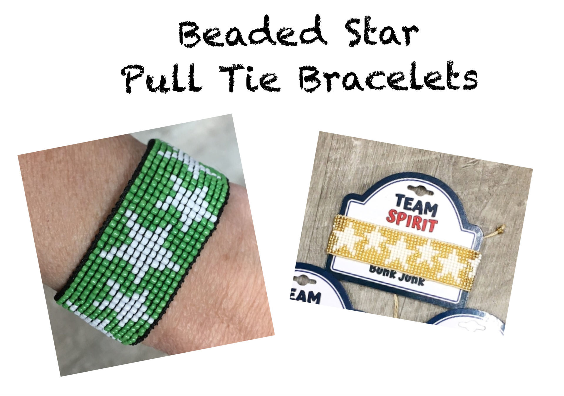 Picture of Beaded Star Pull Tie Bracelet