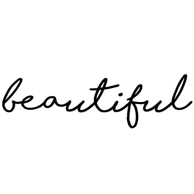 Picture of Beautiful Vinyl Decal
