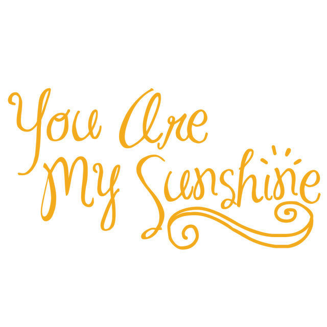 Picture of You Are My Sunshine Vinyl Decal