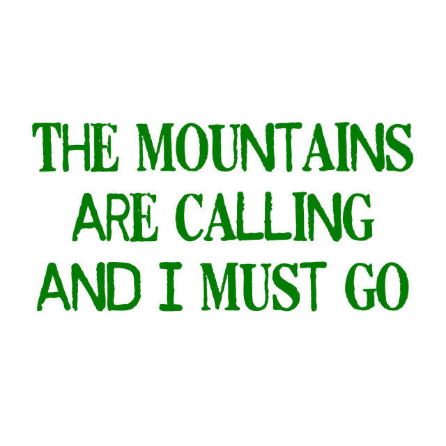 Picture of The Mountains Are Calling Vinyl Decal