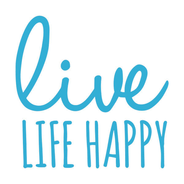 Picture of Live Life Happy Vinyl Decal