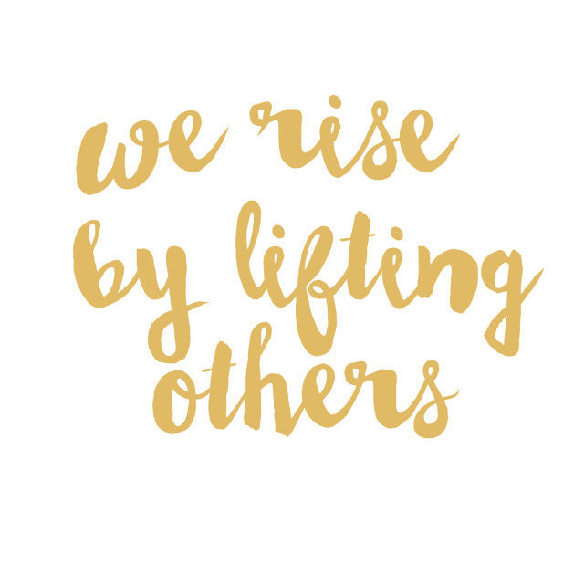 Picture of We Rise By Lifting Others Vinyl Decal