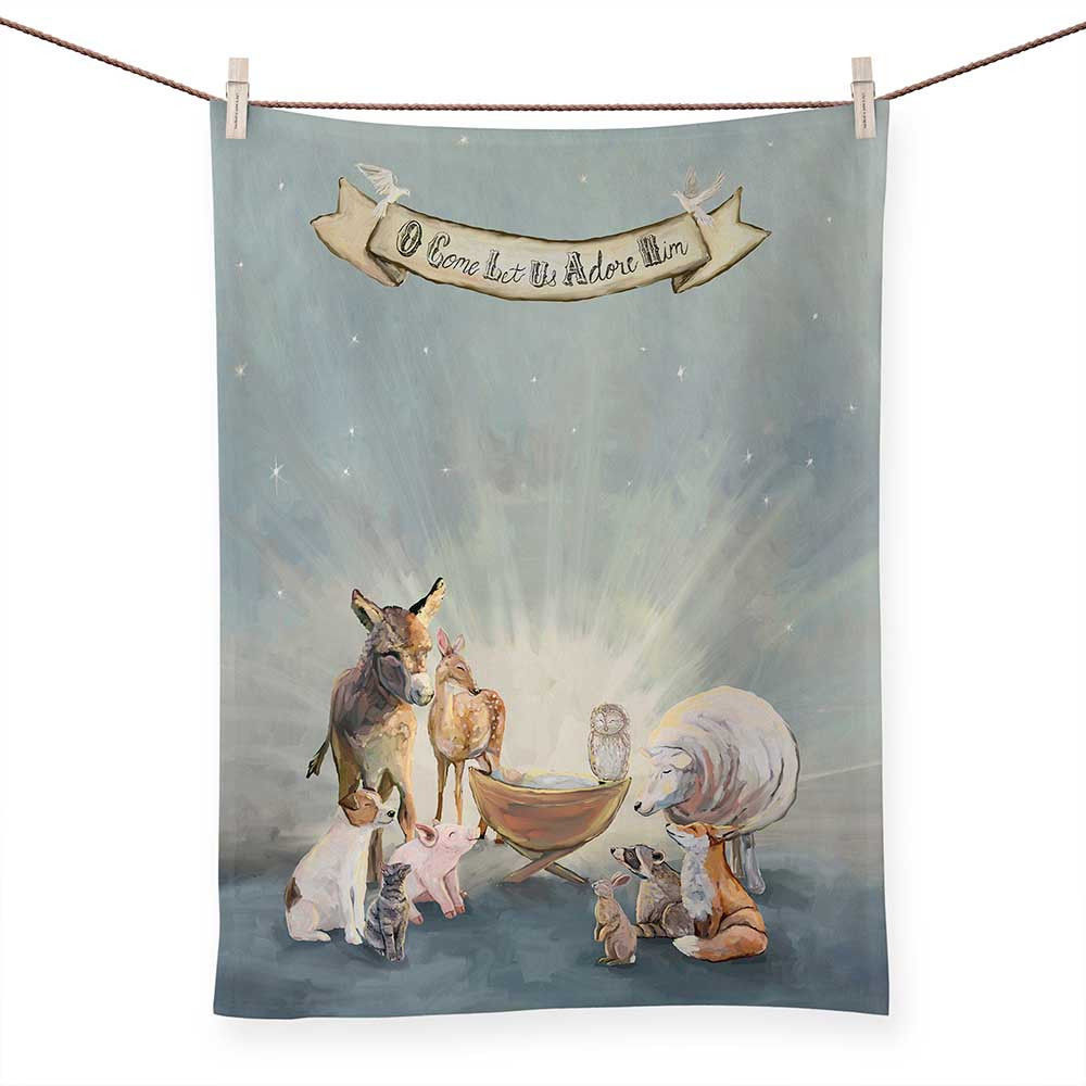 Picture of Oh Come Let Us Adore Him Tea Towel