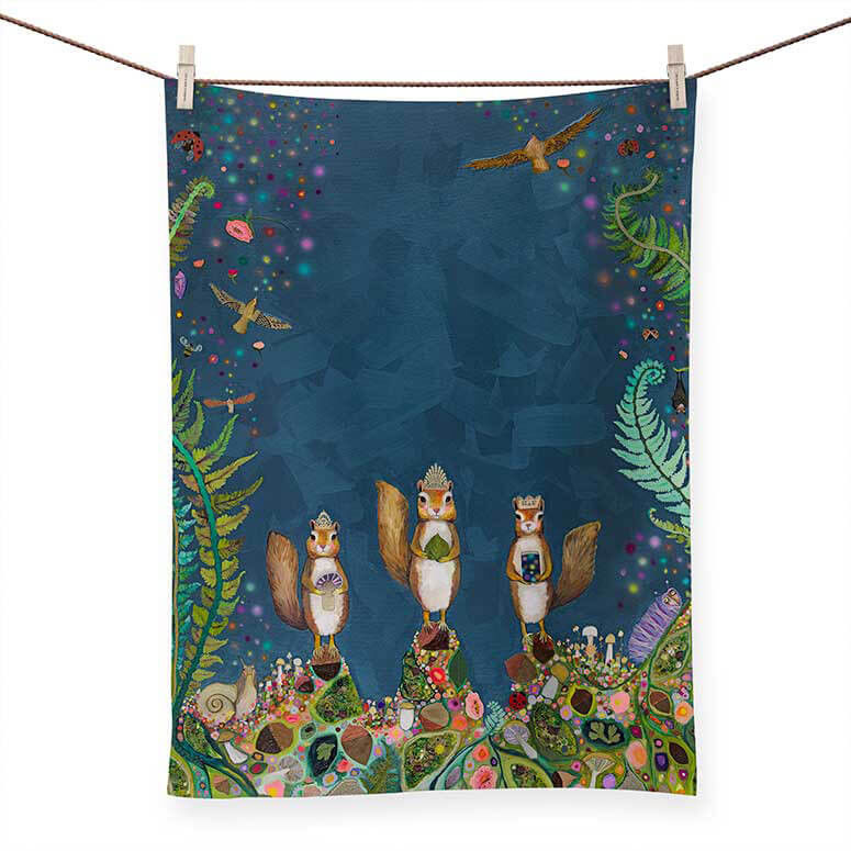 Picture of Squirrel Royale Tea Towel
