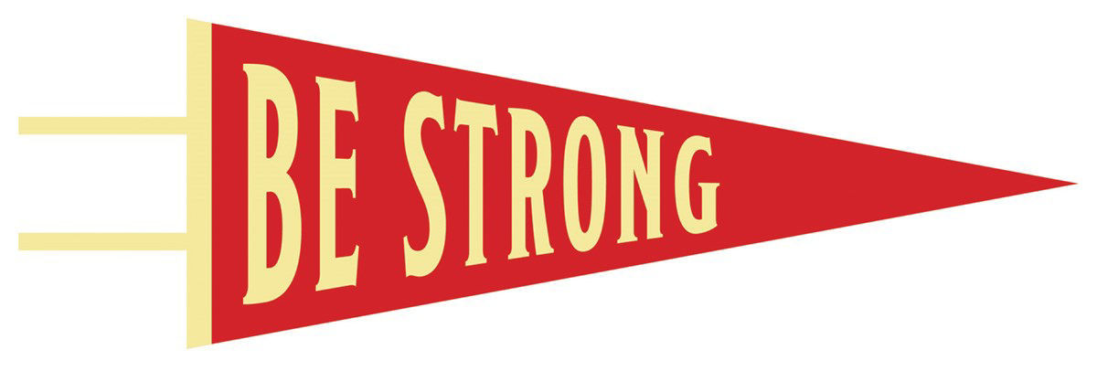 Picture of Be Strong Pennant